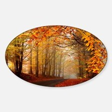 Road At Autumn Decal