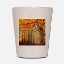 Road At Autumn Shot Glass