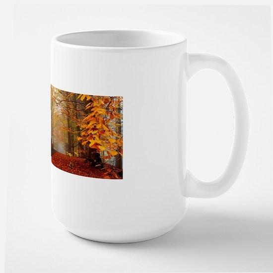 Road At Autumn Mugs