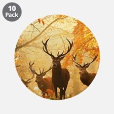 """Deer In Autumn Forest 3.5"""" Button (10 pack)"""