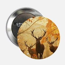 "Deer In Autumn Forest 2.25"" Button (10 pack)"