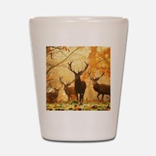 Deer In Autumn Forest Shot Glass