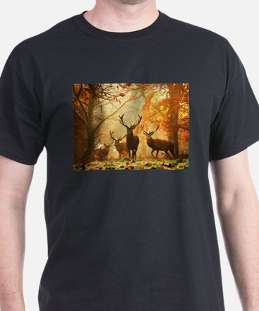 Deer In Autumn Forest T-Shirt