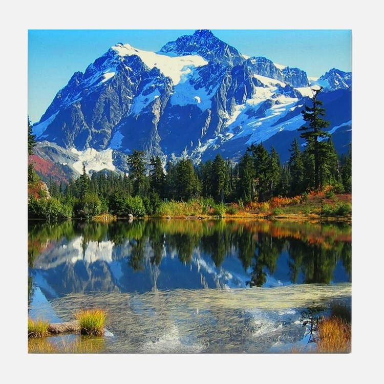 Mountain At Autumn Tile Coaster