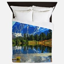 Mountain At Autumn Queen Duvet