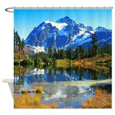 Mountain At Autumn Shower Curtain