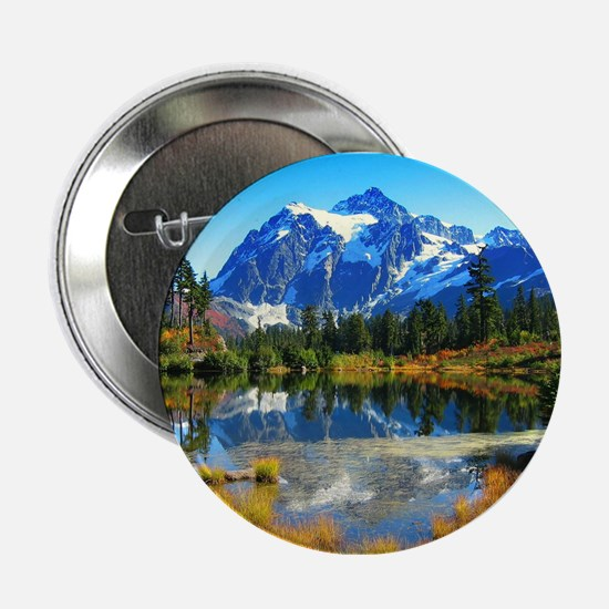 "Mountain At Autumn 2.25"" Button (10 pack)"