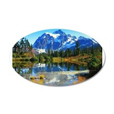 Mountain At Autumn Wall Sticker
