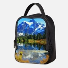 Mountain At Autumn Neoprene Lunch Bag