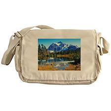 Mountain At Autumn Messenger Bag