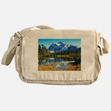 Mountain At Autumn Messenger Bag