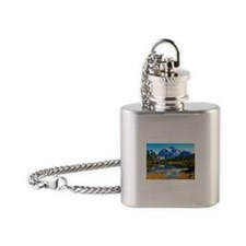 Mountain At Autumn Flask Necklace
