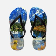 Mountain At Autumn Flip Flops