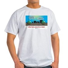 in a duel T-Shirt