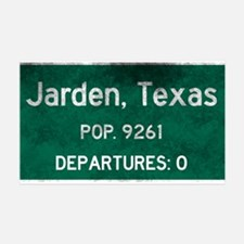 Jarden, Texas Road Sign Wall Sticker