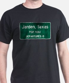 Jarden, Texas Road Sign T-Shirt