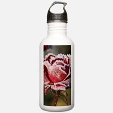 Rose With Frost On It Sports Water Bottle