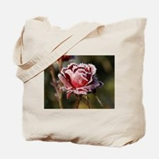 Rose With Frost On It Tote Bag
