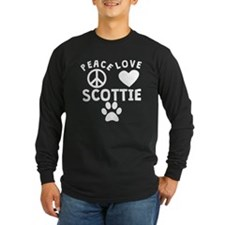Peace Love Scottie Long Sleeve T-Shirt