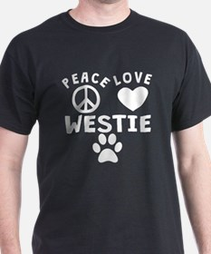 Peace Love Westie T-Shirt