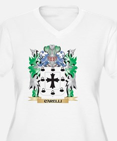Carelli Coat of Arms - Family Cr Plus Size T-Shirt