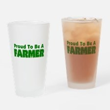 Proud To Be A Farmer Drinking Glass