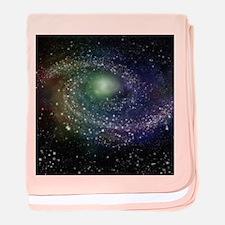 'Rainbow Galaxy' baby blanket