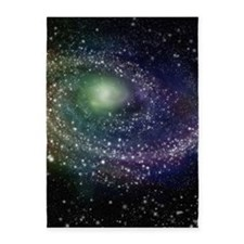 'Rainbow Galaxy' 5'x7'Area Rug