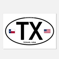 Texas Euro Oval - TX Postcards (Package of 8)