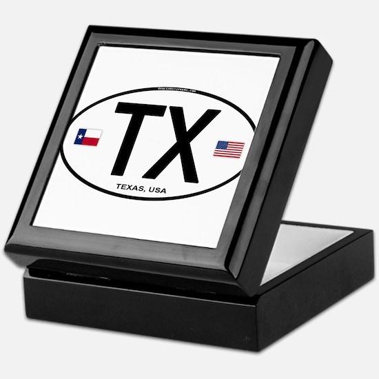 Texas Euro Oval - TX Keepsake Box