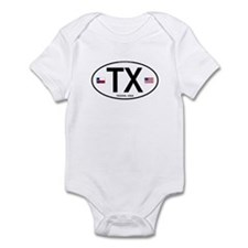 Texas Euro Oval - TX Infant Bodysuit