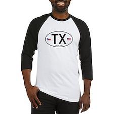 Texas Euro Oval - TX Baseball Jersey