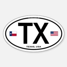 Texas Euro Oval - TX Oval Decal