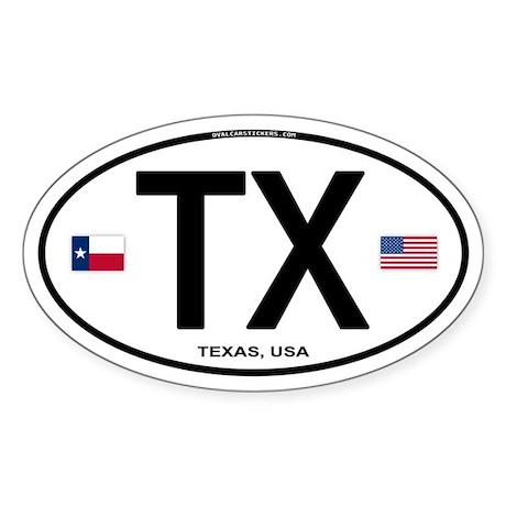 Texas Euro Oval - TX Oval Sticker