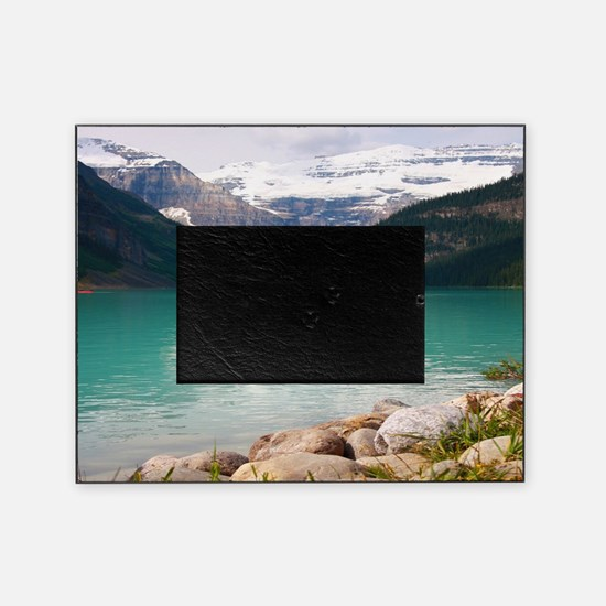mountain landscape lake louise Picture Frame