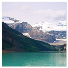 mountain landscape lake louise Poster