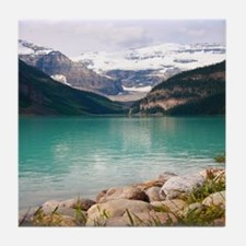 mountain landscape lake louise Tile Coaster