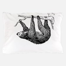 Vintage Sloth Hang In There Pillow Case