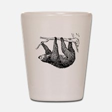 Vintage Sloth Hang In There Shot Glass