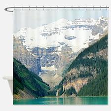 mountain landscape lake louise Shower Curtain