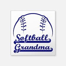 "PROUD GRANDMA Square Sticker 3"" x 3"""