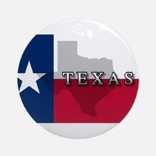 Texas Flag Extra Ornament (Round)