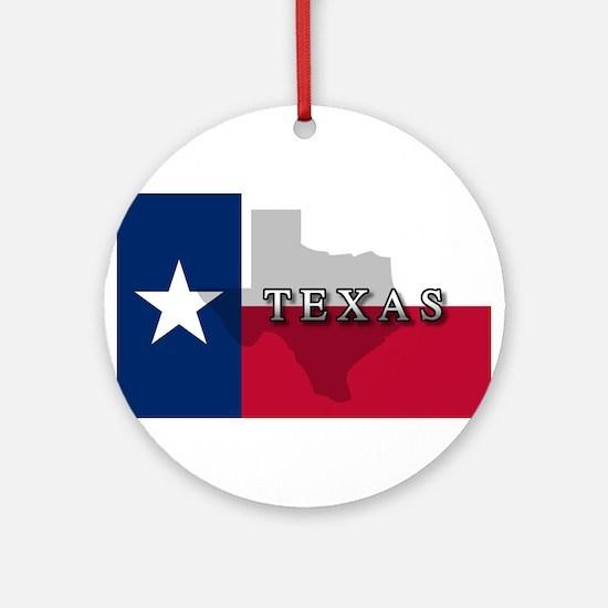 Texas Flag Extra Ornament (Round)