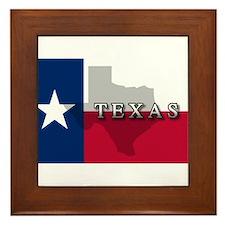 Texas Flag Extra Framed Tile