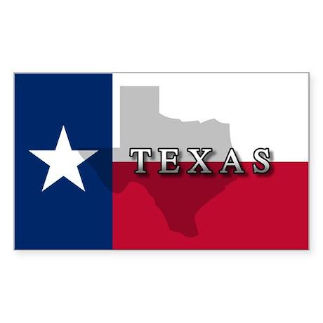 Texas Flag Extra Rectangle Sticker