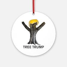 Tree Trump Round Ornament