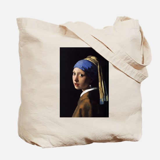 girl with a pearl Tote Bag