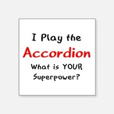 "play accordion Square Sticker 3"" x 3"""