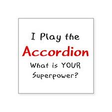 """Cute Piano accordion Square Sticker 3"""" x 3"""""""