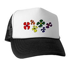 Gay Pride Flower Power Trucker Hat